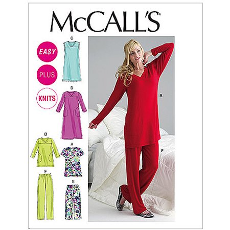 Mccalls Pattern Misses And Womens Top  Tunic  Gowns And Pants  Rr  18W  20W  22W  24W
