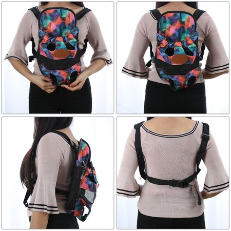 Pet Dog Carrier Front Chest Backpack Puppy Bag Outdoor L Size Colorful Pattern - image 1 of 7