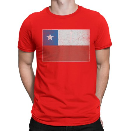 Chile Flag Tee Vintage Style Shirt Mens