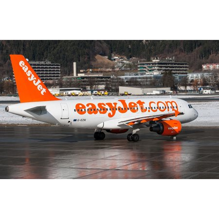Airbus A319 Us Airways - LAMINATED POSTER Innsbruck Airliner A319 Easyjet Airbus Airline Poster Print 24 x 36