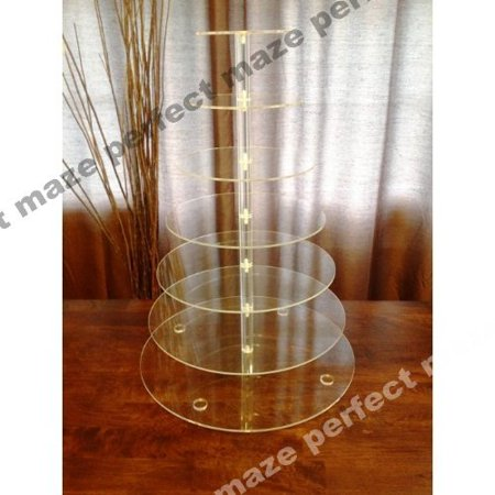 Perfect Maze 7 Tier Round Wedding Acrylic Cupcake Stand Tree Tower Cup Cake Display