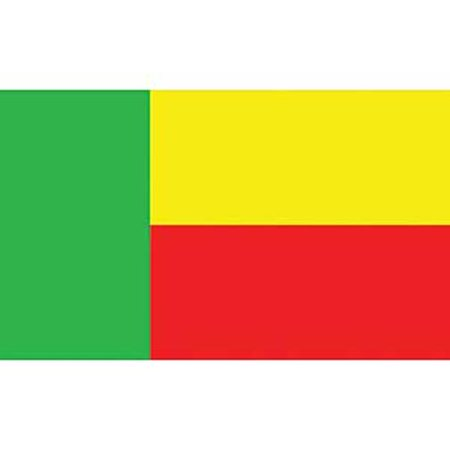 Benin Flag On A Stick 12