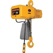 HARRINGTON NER020C-10 Electric Chain Hoist, 4000 lb., 10 ft., Hook Mounted - No