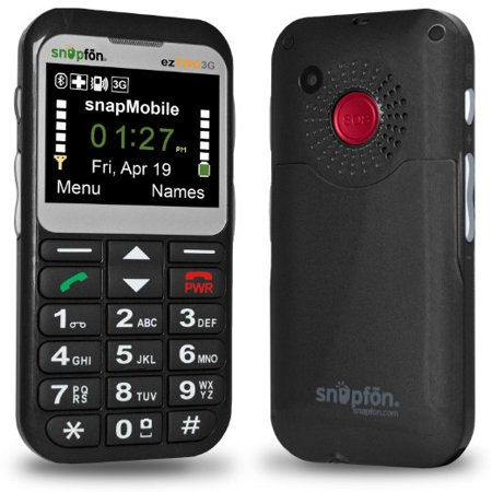 Snapfon ezTWO 3G Cell Phone with 1 Year of snapMobile Service (900