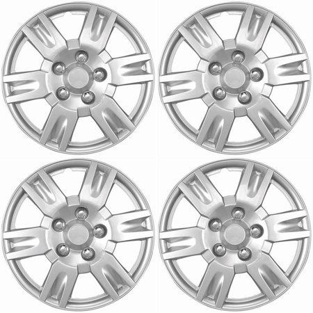 Hub Wheelset (4 Piece Hub Caps Wheel Cover Set SILVER /LACQUER FITS 16