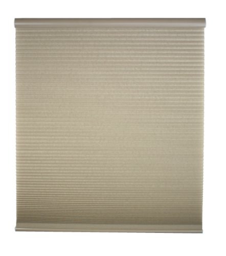 27W x 72H Inches DEZ Furnishings QCLN270720 Cordless Light Filtering Cellular Shade Linen