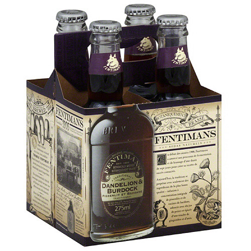 Fentimans Dandelion & Burdock Botanical Drinks, 9.3 fl oz, 4 count, (Pack of 6)