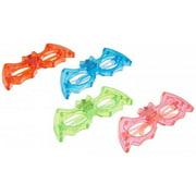 12/pk Bat Batman LED Light Up Sunglasses Unisex Flashing Glasses assorted color