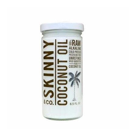 Skinny & Co Natural Raw Unrefined Alkaline Extra Virgin Coconut Oil 8.5 (Company Coconut)