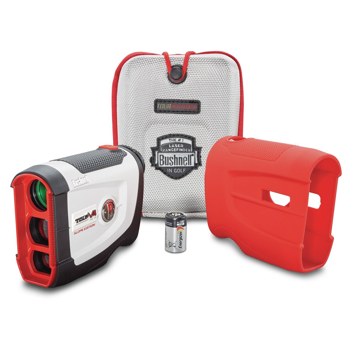 Click here to buy Bushnell Golf Tour V4 Shift Laser Rangefinder with Slope-Switch, White Gray by Bushnell Golf.