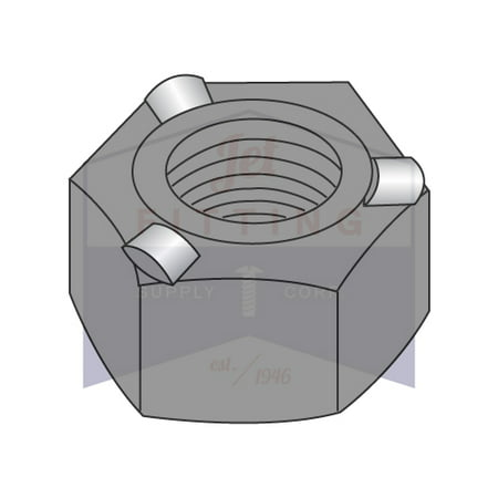 Pilot Nut (1/4-20 Hex Weld Nuts | 3 Projections | With High, Self-Locating Pilot | Steel | Plain Finish | Nuts can be fed automatically or manually (Quantity:)