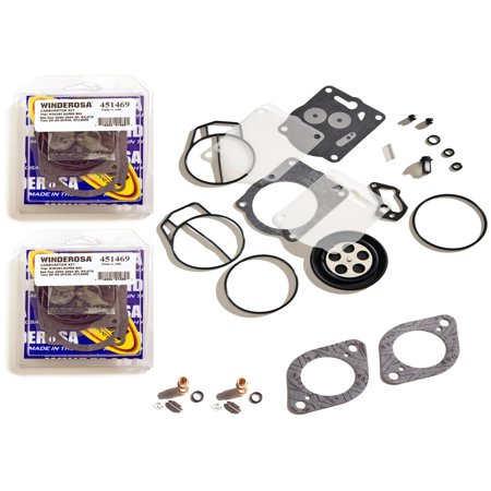 Sea Doo 947 951 GTX GSX XP Twin Carb Rebuild Kit With Needle Seat & Base Gaskets