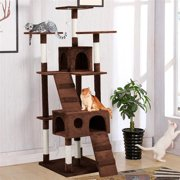 "Yaheetech 73"" Cat Tree Tower Toy Scratch Play Post Pet House with Stairs"