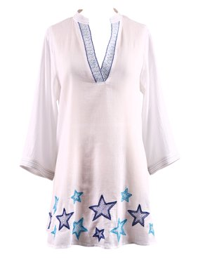 Women's Star Light Plus Size Cover-Up Size: 1X (16W-18W)