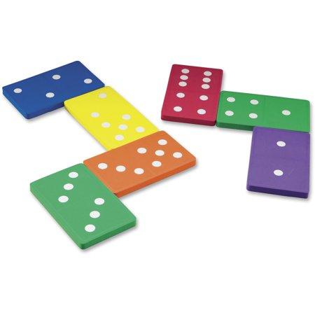 Learning Resources, LRNLER6380, Foam Jumbo Dominoes, 28 / Set, Multi