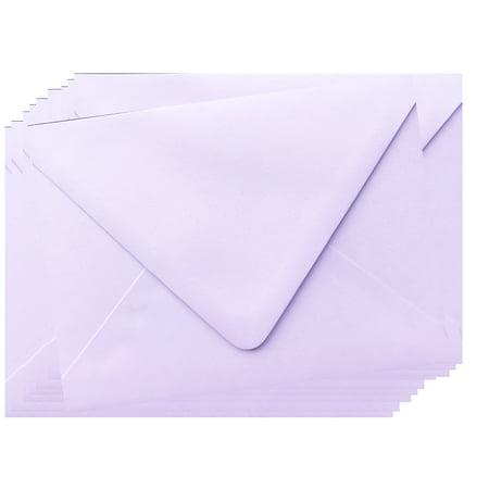 Communion And Confirmation Invitations (Light Lavendar Purple Contour Euro Flap 25 Boxed A7-70lb Envelopes (5-1/4 x 7-1/4) for 5 x 7 Invitations Announcements Weddings Showers Communions Confirmations by The Envelope)