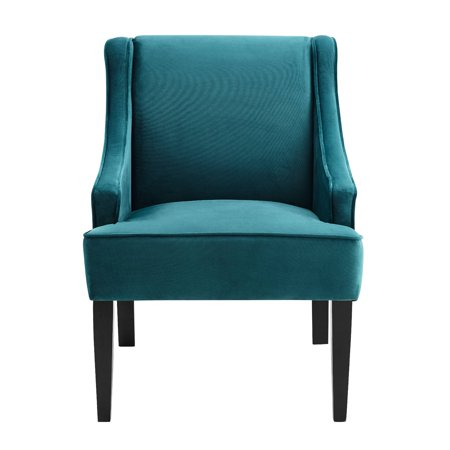 Mainstays Swoop Arm Chair with Wood Legs, Multiple Colors ()