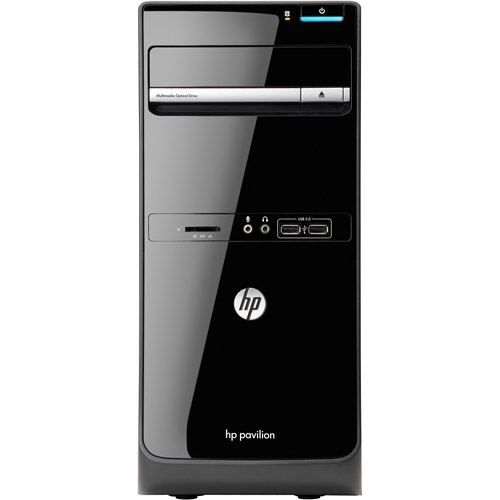HP Black Pavilion P6-2350 Desktop PC with AMD Quad-Core A8-5600K Accelerated Processor, 8GB Memory, 1TB Hard Drive and Windows 8 Operating System (Monitor Not Included)