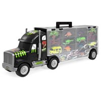 Best Choice Products 22-Inch 16-Piece Truck w/ Dinosaurs, Helicopter, Jeep, Cars, Multicolor