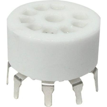 Mount Tube Socket (Vacuum Tube Socket, 9 Pin / Miniature, Ceramic, PC Mount By AmplifiedParts )
