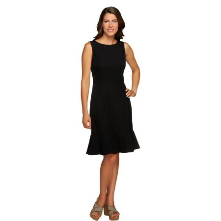Moss Green Dress - Isaac Mizrahi 24/7 Stretch Animal Print Dress A255884