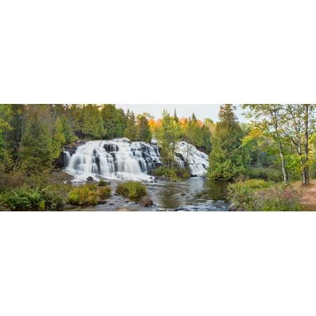 Waterfall in a forest Bond Falls Ontonagon River Ontonagon County Michigan USA Poster Print](Halloween Usa Stores In Michigan)