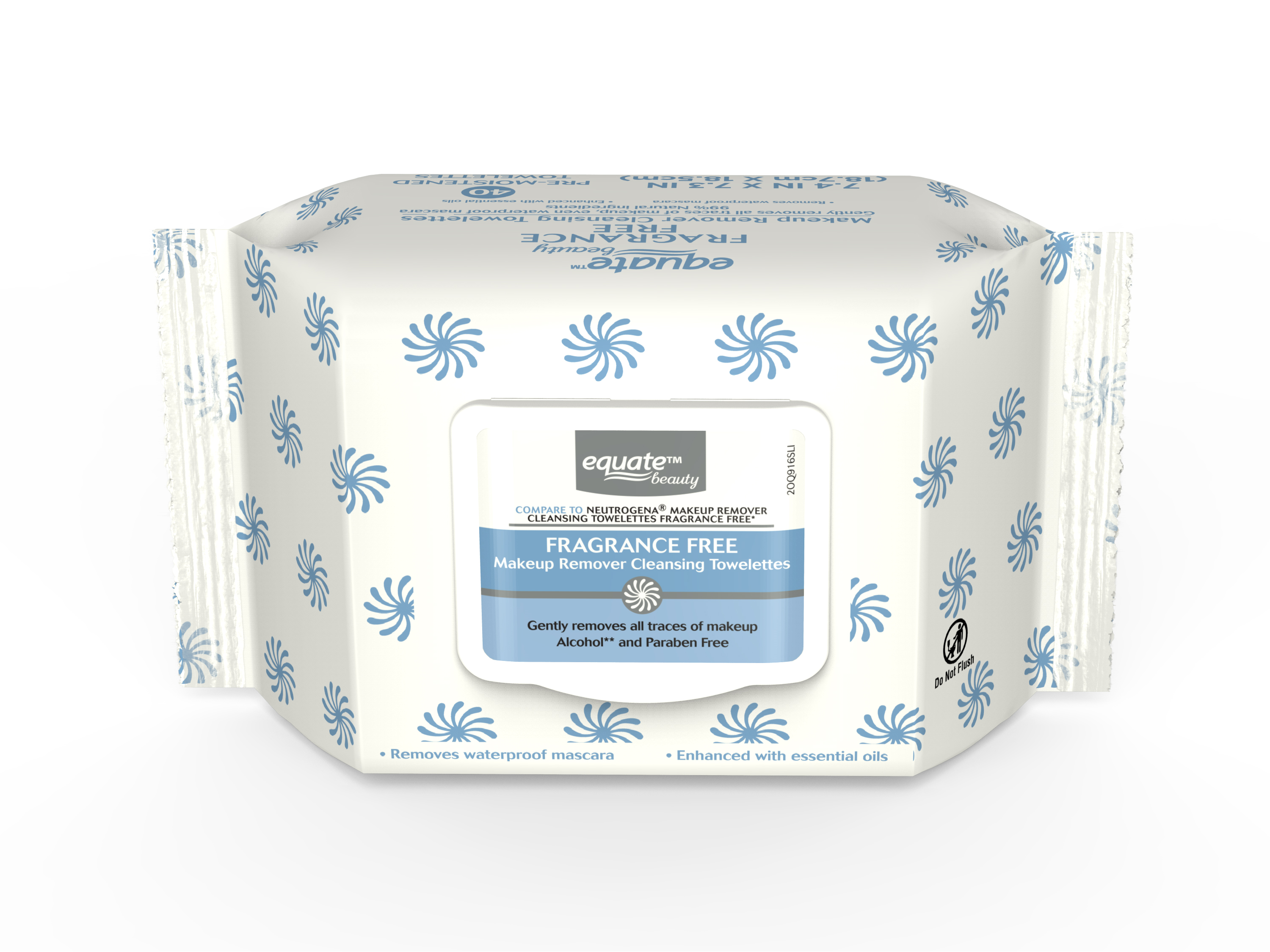 Equate Beauty Fragrance Free Makeup Remover Cleansing Wipes