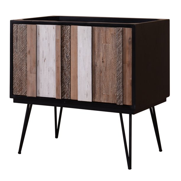 Sagehill Verticali 36 Bathroom Vanity Base Rustic Variegated Finish Walmart Com
