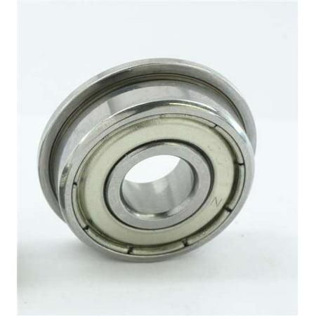 Bearing 10x19x5 Ceramic Stainless Steel (SF6800ZZ Flanged Bearing 10x19x5 Shielded Stainless Steel)