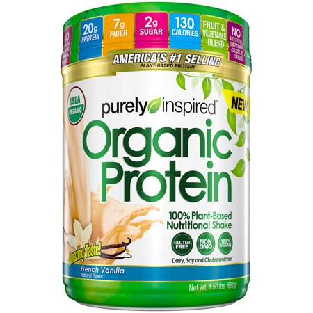 Purely Inspired French Vanilla Organic Protein Shake Mix  1 50 Lbs