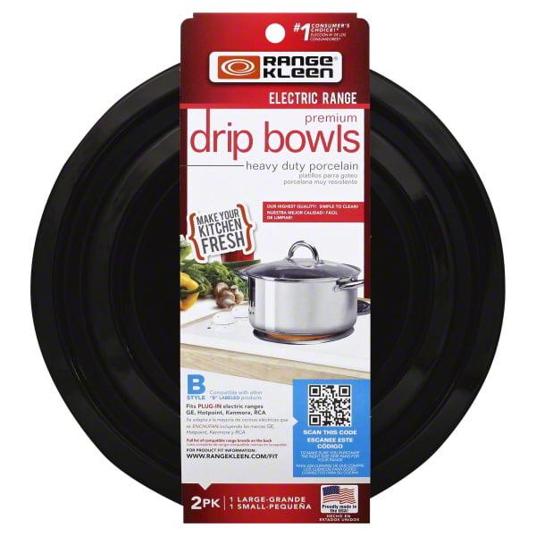 Range Kleen Black Porcelain Drip Pans 2 Count Walmart Com