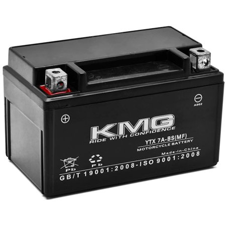 KMG Battery Compatible with SYM 50 Fiddlell50 2010-2012 YTX7A-BS Sealed Maintenance Free Battery High PerFormance 12V SMF OEM Replacement Powersport Motorcycle ATV Scooter Snowmobile - image 1 of 3