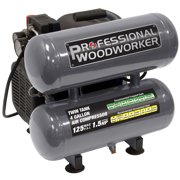 Professional Woodworker 4 Gallon Twin Stack Air Compressor