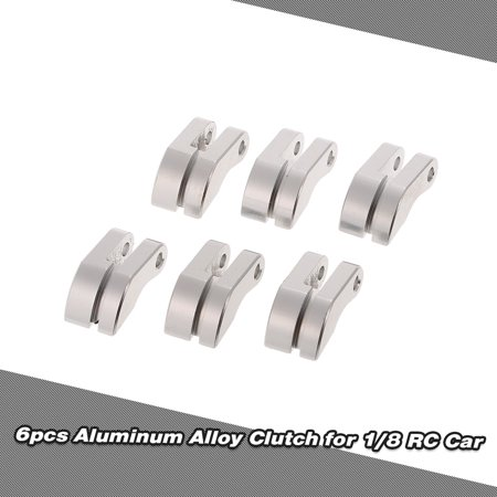 6pcs Aluminum Alloy Clutch & Spring Silver Gas Nitro Engine Parts For 1/8 Scale Models RC Model -