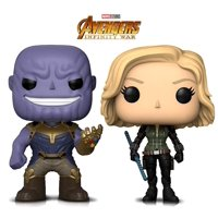 Warp Gadgets Bundle - Funko Pop Marvel Avengers Infinity War - Thanos and Black Widow (2 Items)
