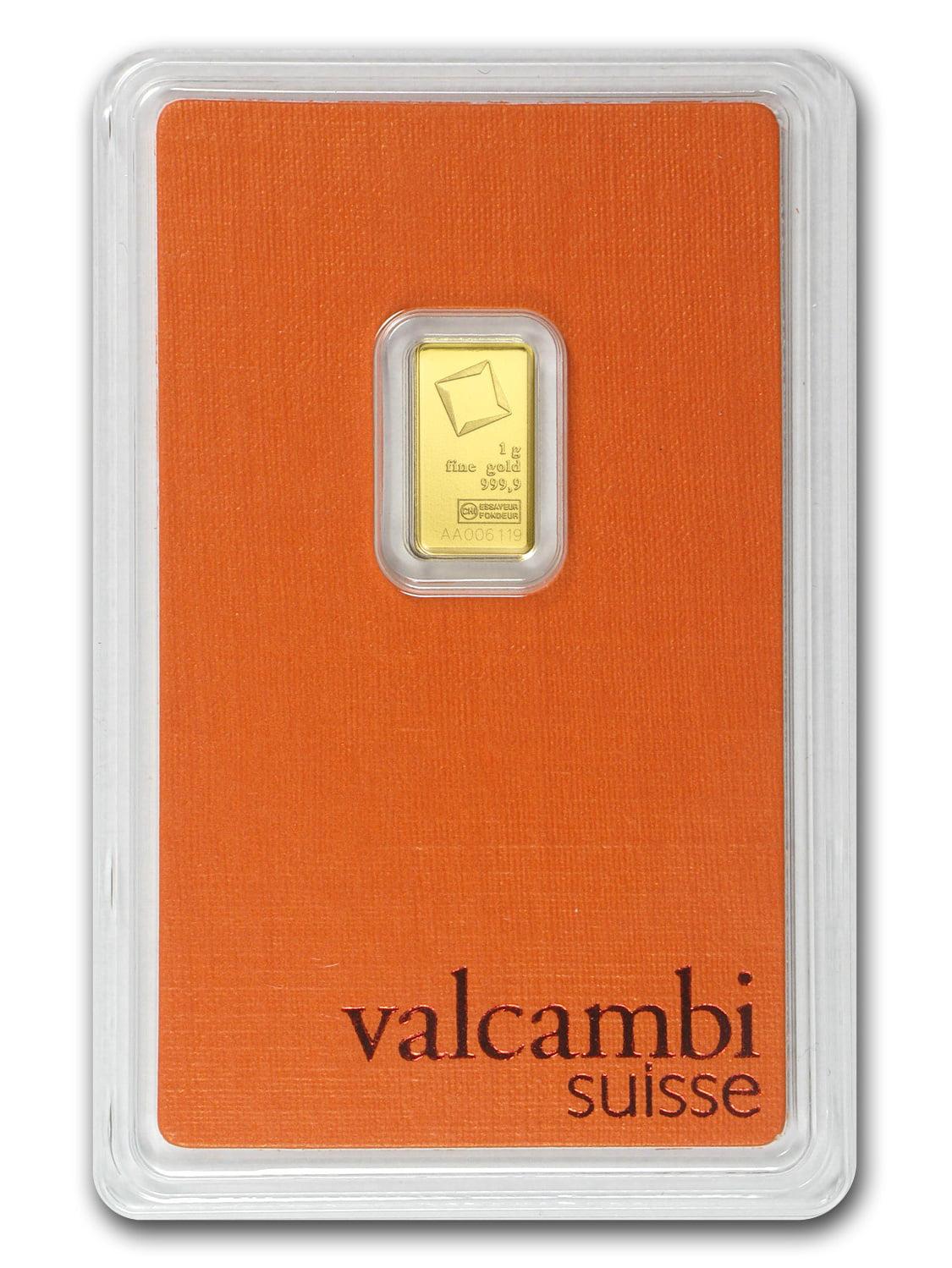 1 gram Gold Bar - Valcambi (In Assay)