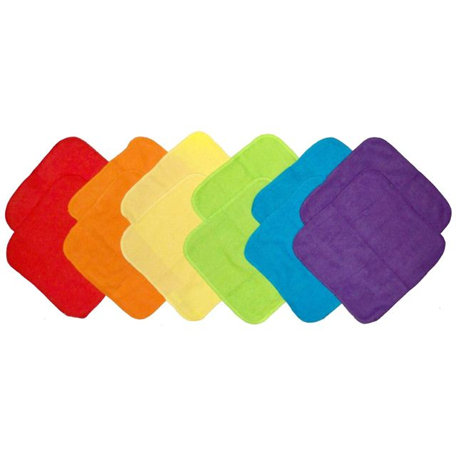 Neat Solutions Solid Bright Knit Terry Washcloth Set 12 Pack