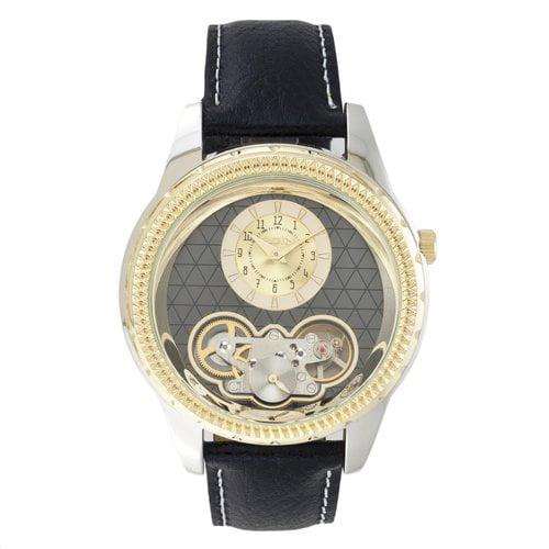 Elgin Men's Genuine Leather Semi Automatic Watch