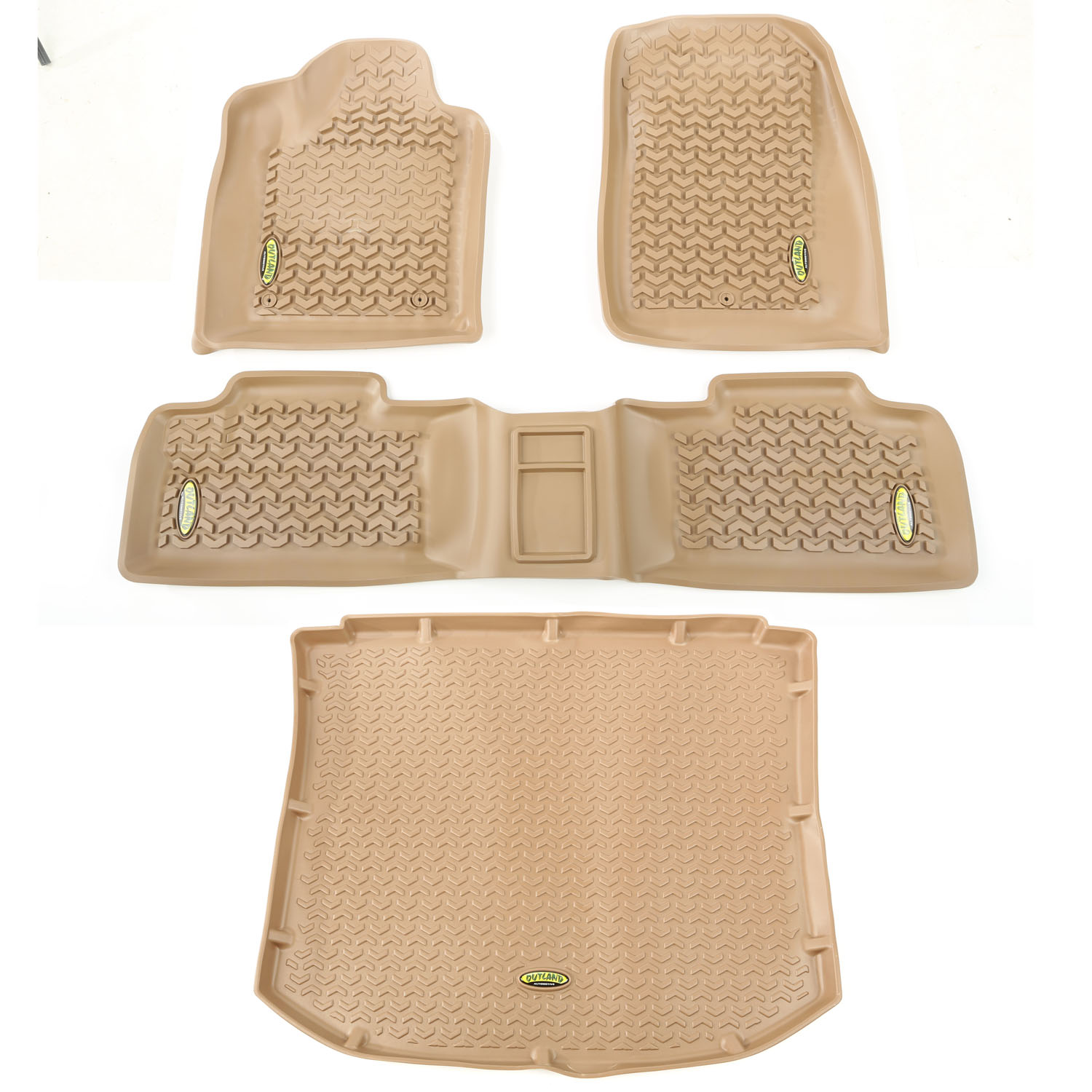 Outland Automotive 391398826 Tan Floor Liners for 11-16 Jeep Grand Cherokee WK