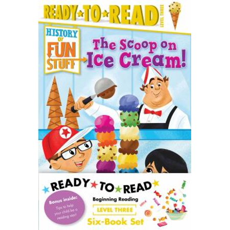 History Of Fun Stuff Ready To Read Level Three  The Tricks And Treats Of Halloween    The Scoop On Ice Cream    The Deep Dish On Pizza    The Sweet Story Of Hot Chocolate    The High Score And Lowdo
