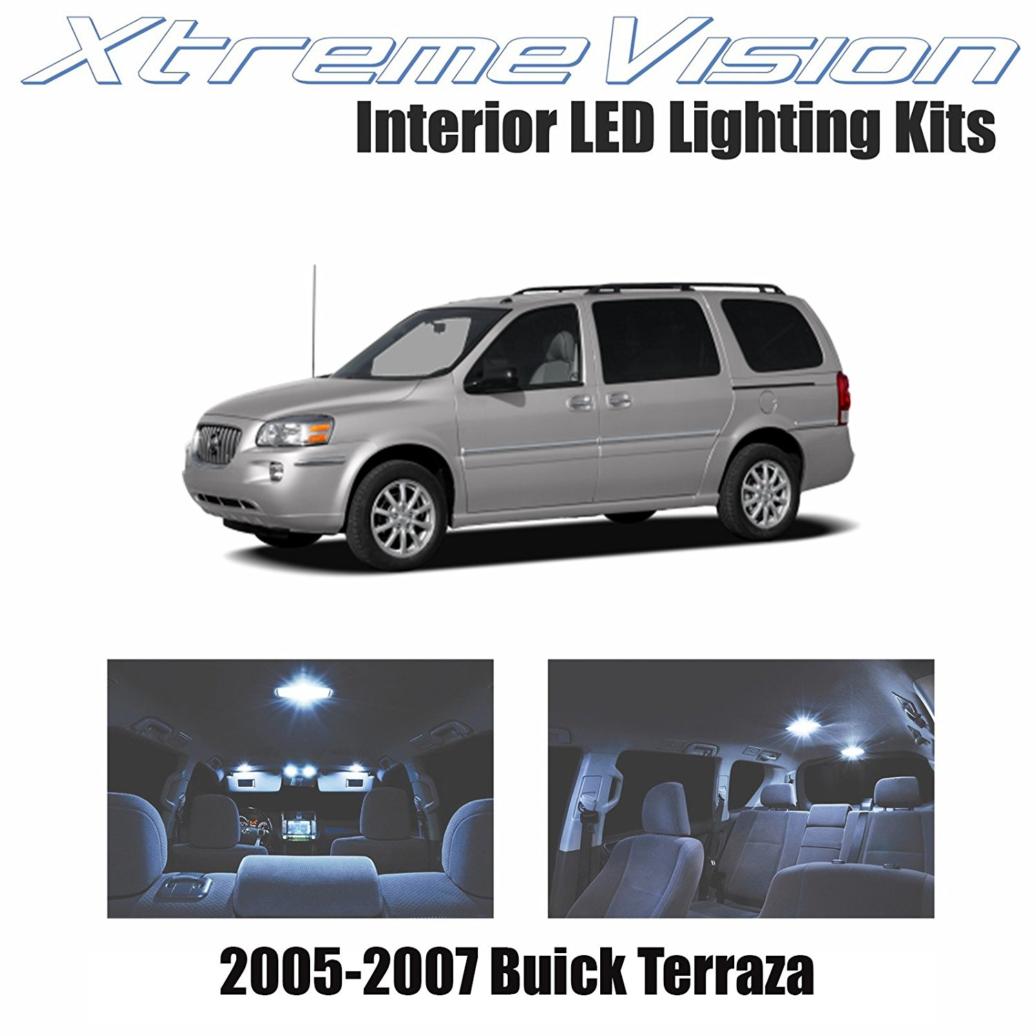 XtremeVision LED for Buick Terraza 2005-2007 (14 Pieces) Cool White Premium Interior LED Kit Package + Installation Tool