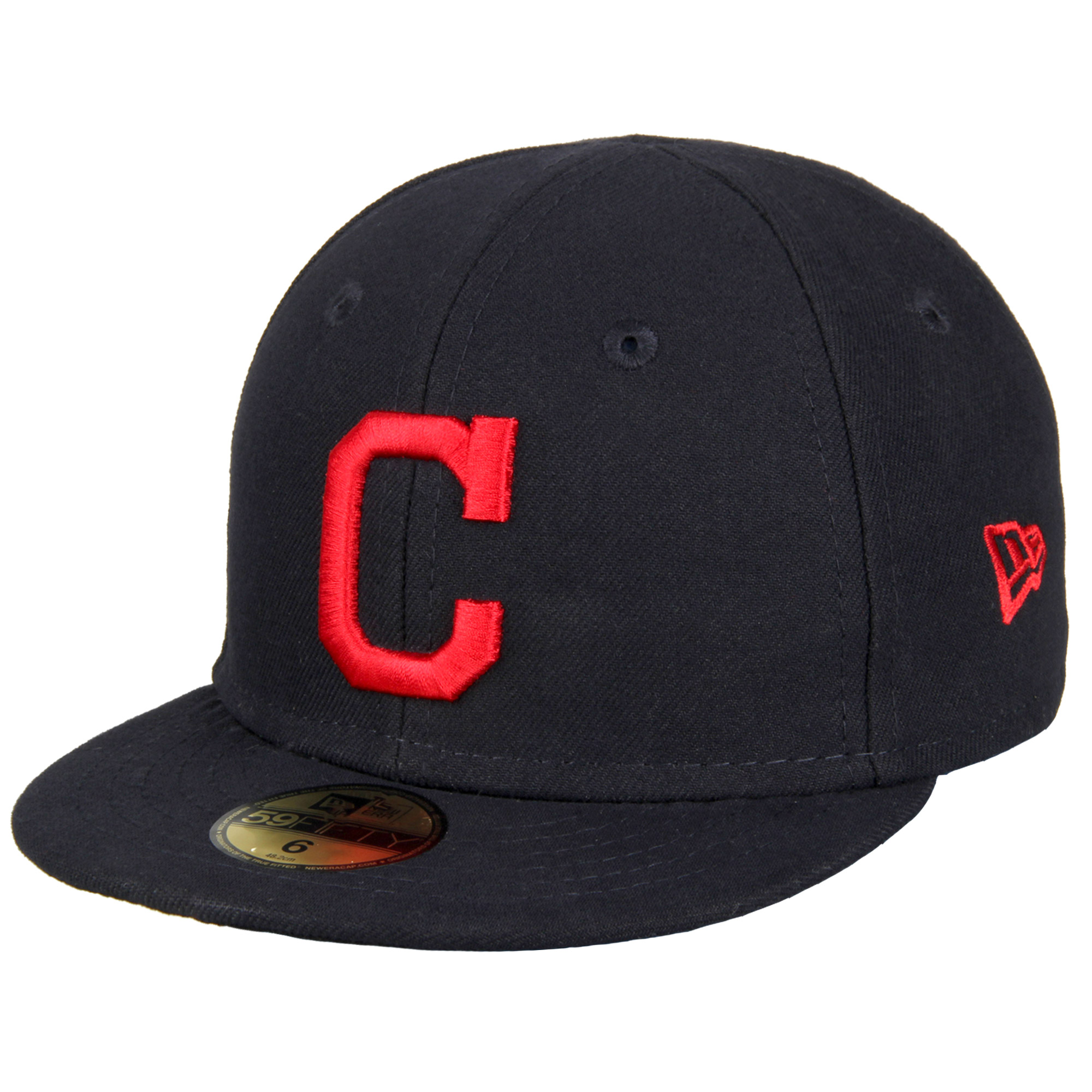 Cleveland Indians New Era Infant Authentic Collection On-Field My First 59FIFTY Fitted Hat - Navy - 6