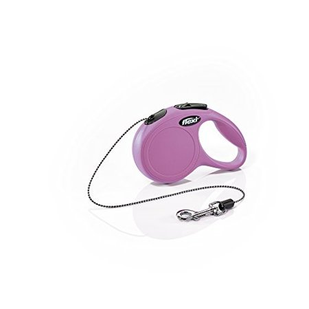 Flexi Classic Cord Retractable Leash, X-Small, Pink
