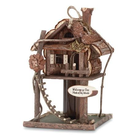 Hummingbird Birdhouse (Birdhouse, Modern Hanging Bird House Wood For Hummingbird Chickadee )