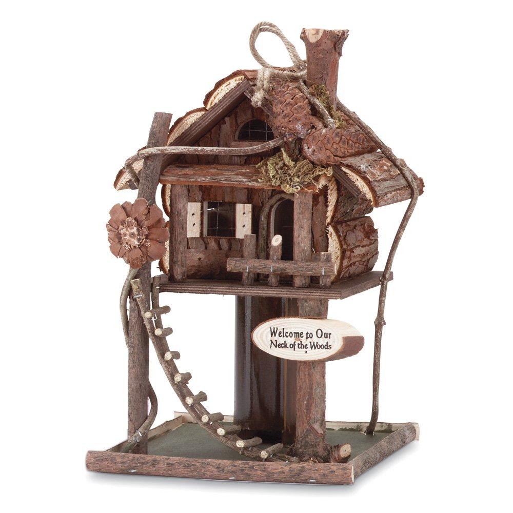 Birdhouse, Modern Hanging Bird House Wood For Hummingbird Chickadee