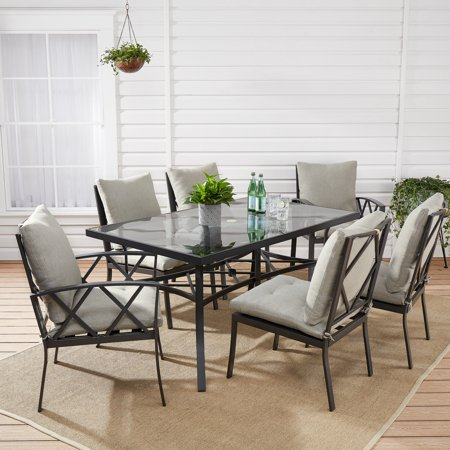 Mainstays Dundee Ridge 7-Piece Outdoor Patio Dining Set for 6 ()