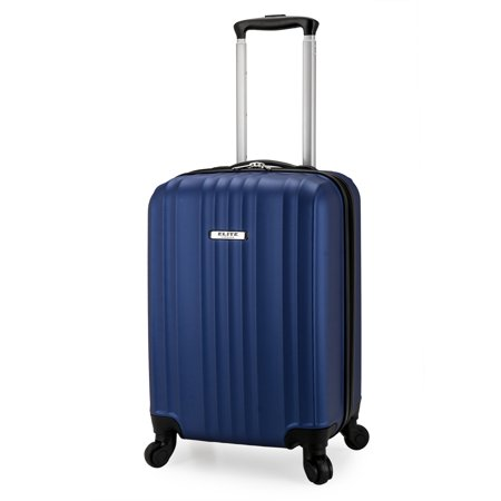 Elite Luggage Fullerton Hardside Carry-On Spinner Luggage, Navy