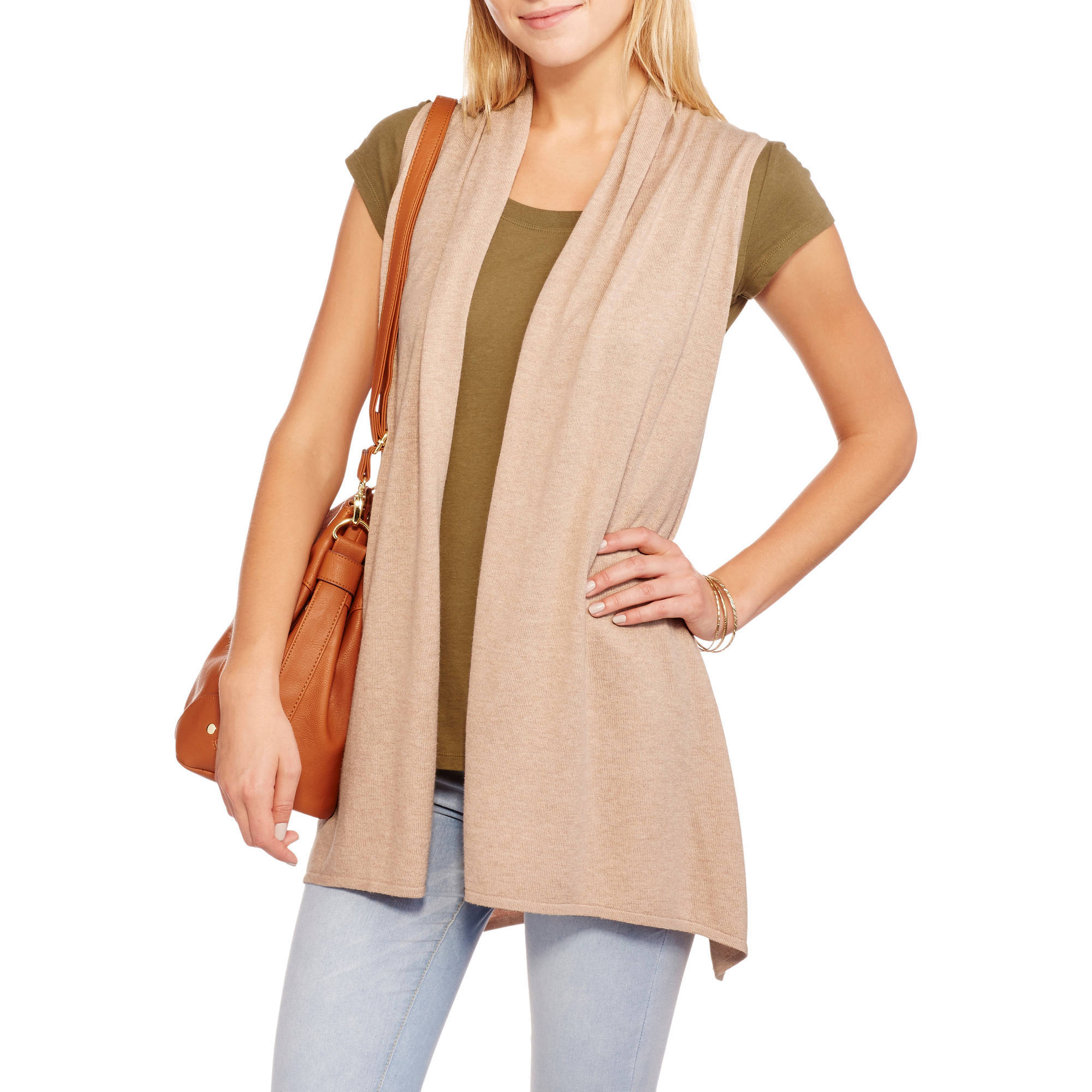 Concept's Womens Sleeveless Flyway Cardigan