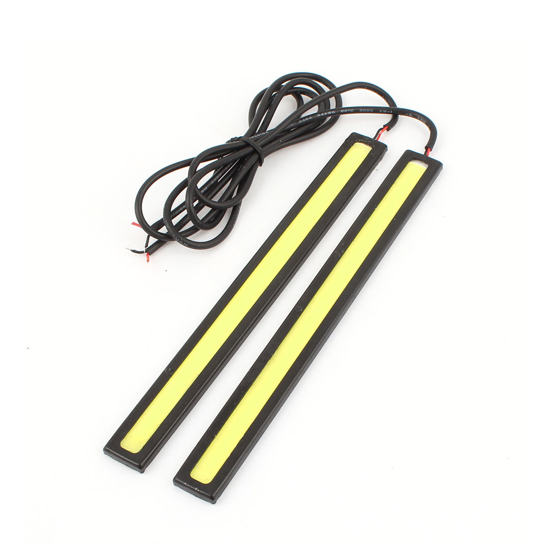 Unique Bargains Car Self Adhesive 80 COB  Clip DRL Daytime Running Light White 2 Pcs
