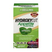 Hydroxycut Appetite Control Dietary Supplement Drink Mix Packets Mixed Berr, 14 Ct